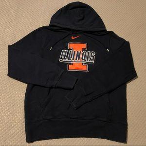 Nike Center Swoosh Dark Blue/Orange College Hoodie
